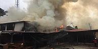 Kocaelide palet fabrikasının depolama alanı yangında hasar gördü