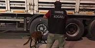 Kocaelide tırda 21 kilo 600 gram uyuşturucu ele geçirildi