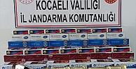 Kocaelindeki kaçak sigara operasyonunda 50 bin 800 makaron ve tütün ele geçirildi