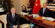 Köşkere Erzurumdan konuk başkan