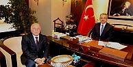 Köşkere Erzurumdan Konuk Başkan!