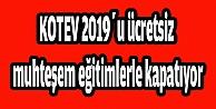 KOTEV 2019u ücretsiz muhteşem eğitimlerle kapatıyor