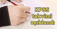 KPSS takvimi açıklandı