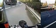 Motosikletçi kendi ölümünü çekti...