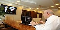 Muhtarlarla video konferansla toplantı