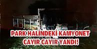 PARK HALİNDEKİ KAMYONET CAYIR CAYIR YANDI!