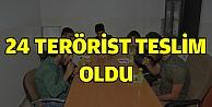 PKK/YPGden kaçan 24 terörist teslim oldu