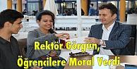 Rektör Görgün, Öğrencilere Moral Verdi