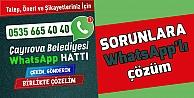 Sorunlara Whatsapplı çözüm