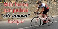 Tek bacaklı bisikletçi, milli forma için pedala çift kuvvet basıyor