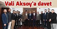 Trabzonlu Gençlerden Vali Aksoya davet