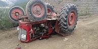 Traktör devrildi: 1 Ölü!