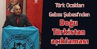 Türk Ocakları Gebze Şubesinden Doğu Türkistan açıklaması