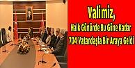 Vali Aksoy, 704 Vatandaşla buluştu