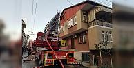 Yangın çıkan evde maddi hasar oluştu