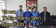 Yılmaz, Türkiye Kamu Sen'i Ziyaret Etti