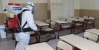 YKS öncesi okullar dezenfekte edildi