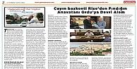 Çayın başkenti Rize'den Fındığın Anavatanı Ordu'ya Devri Alem