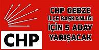 CHP Gebze'de aday bolluğu