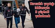 Evlerden hırsızlık yaptığı iddiasıyla 3 şüpheli yakalandı