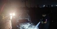 Gebze'de yanan otomobilde hasar oluştu
