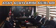Hasan Soba aday adaylarını ağırladı