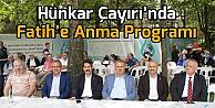 Hünkar Çayırı'nda Fatih'e Anma Programı