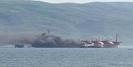 İzmit Körfezi'nde LPG tankeri yangını gelismeleri