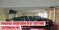 KOCAELİ AFAD'DAN AFET EĞİTİMİ SEFERBERLİĞİ
