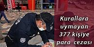 Kocaeli'de Kovid-19 tedbirlerine uymayan 377 kişiye para cezası verildi