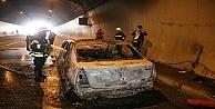 Kocaeli'de Tünelde Araç Yangını
