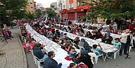 Köşklüçeşme aynı sofrada iftar açtı