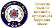 Kovid-19 denetimlerinde 234 kişiye para cezası