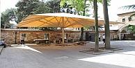 Mustafa Paşa'nın avluna dev tente yapıldı