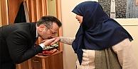 Vali Aksoy, Şehit Cemil Korkmaz'ın Ailesini Ziyaret Etti
