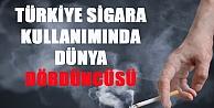 Türkiye, sigara kullanımında dünya dördüncüsü