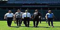 Vali Aksoy Stadyumda İncelemelerde Bulundu