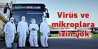 Toplu taşıma araçları koronavirüse karşı dezenfekte ediliyor