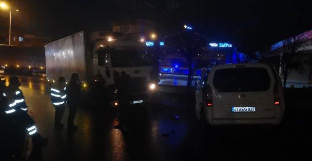 Tırla çarpışan aracın sürücüsü yaralandı