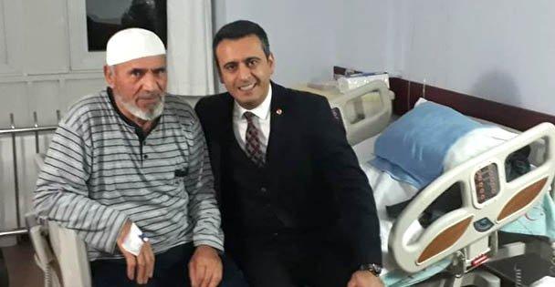 Törk'ten Farabi'deki hastalara ziyaret