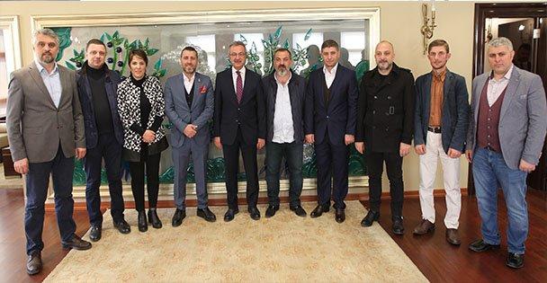 Trabzonlular Başkan Köşker'e geldi