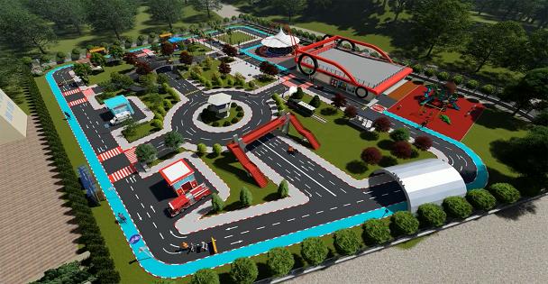 Trafik Eğitim Parkı Şekilleniyor