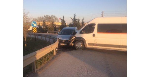Trafik Kazası : 1 Yaralı