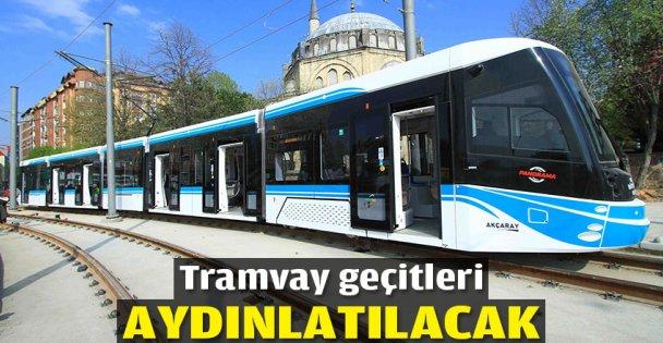 Tramway geçitlerine aydınlatma