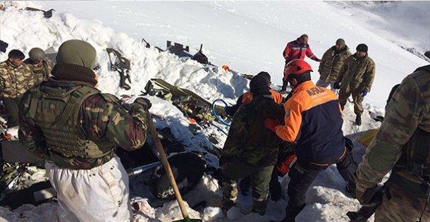 Tunceli'de düşen helikopterin enkazında çalışmalar tamamlandı