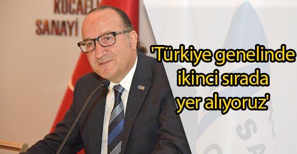 'Türkiye genelinde ikinci sırada yer alıyoruz'