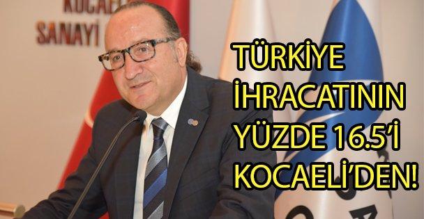Türkiye İhracatının Yüzde 16.5'i Kocaeli'den!