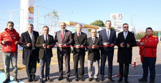 Türkiye'nin ilk sıvılaştırılmış doğal gaz istasyonu Kocaeli'de açıldı