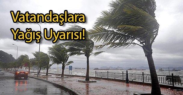 Vatandaşlara Yağış Uyarısı!
