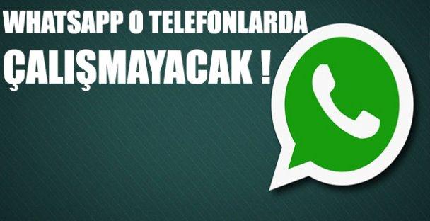 Whatsapp Bazı Telefonlarda Çalışmayacak!